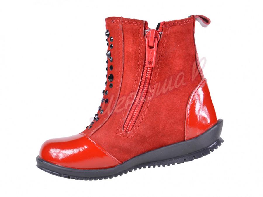 Ботинки DS Panda orthopedic 0971B-32, красный