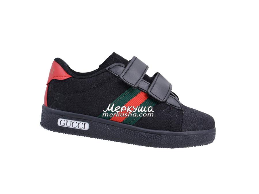 Кроссовки Gucci DSC0322, чёрный
