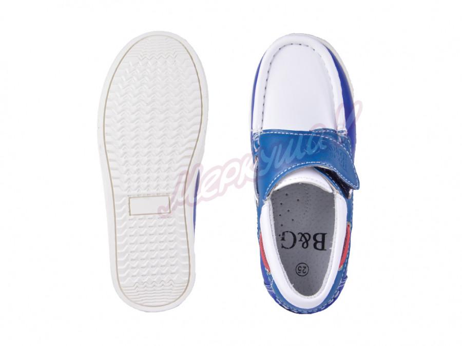 Мокасины  BG2716-811, белый/синий