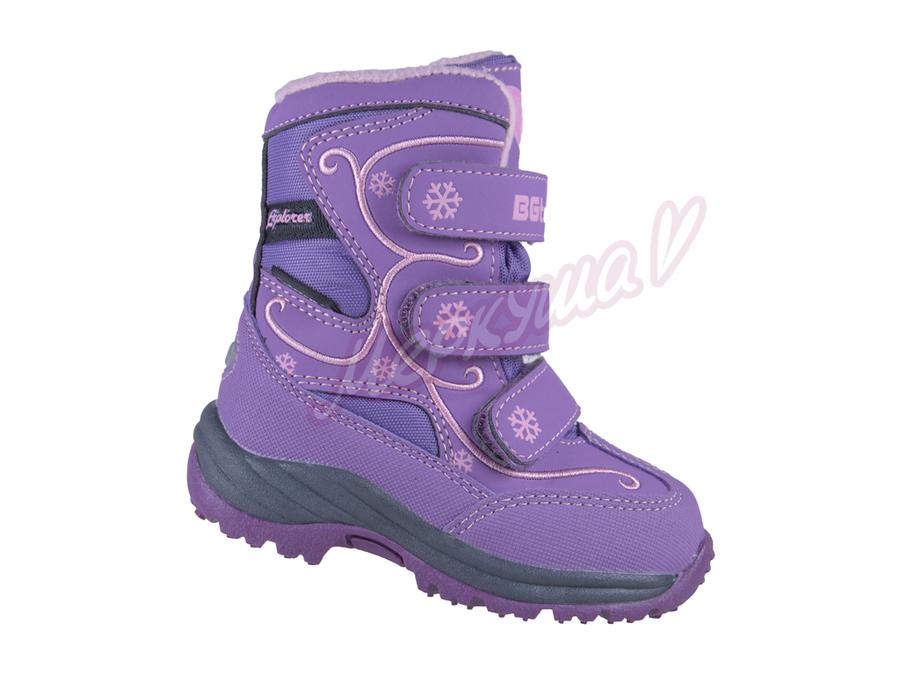 Термо ботинки R151-4017, фиолетовый