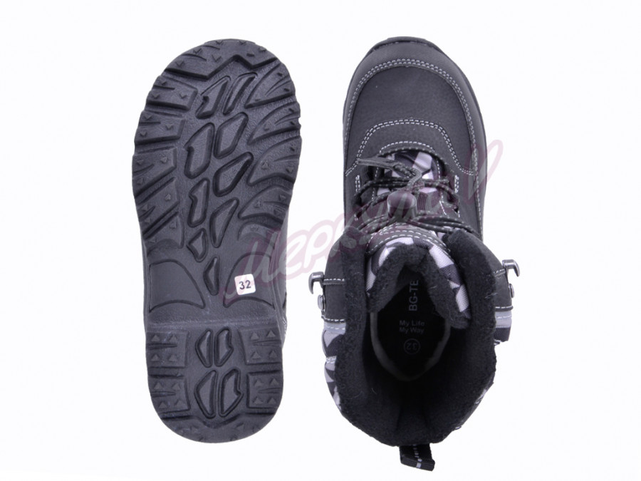 Термо ботинки R181-613, чёрный