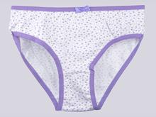 Трусики BB26 мелкий цветок, белый/фиолет