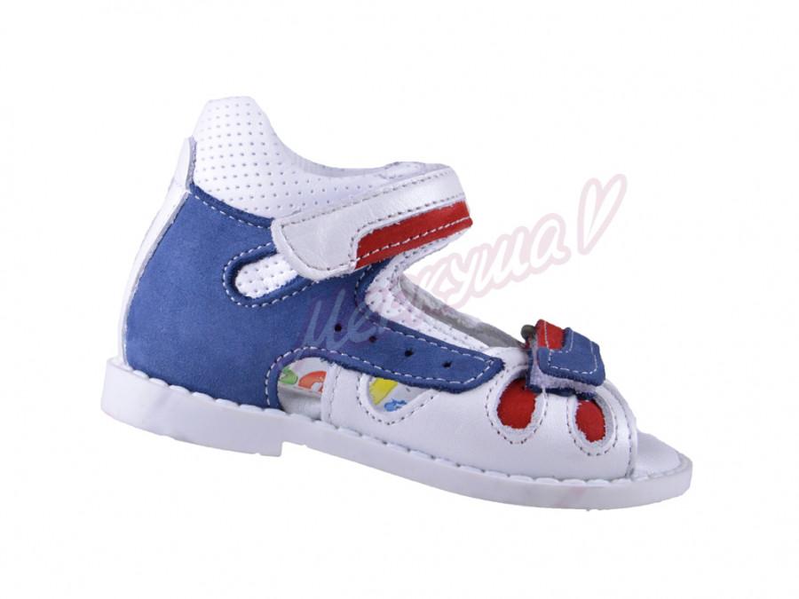 Босоножки  Panda orthopedic 5067-27-121-151-173, белый/синий
