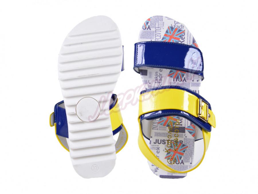 Босоножки ZH17315-10, жёлтый/голубой