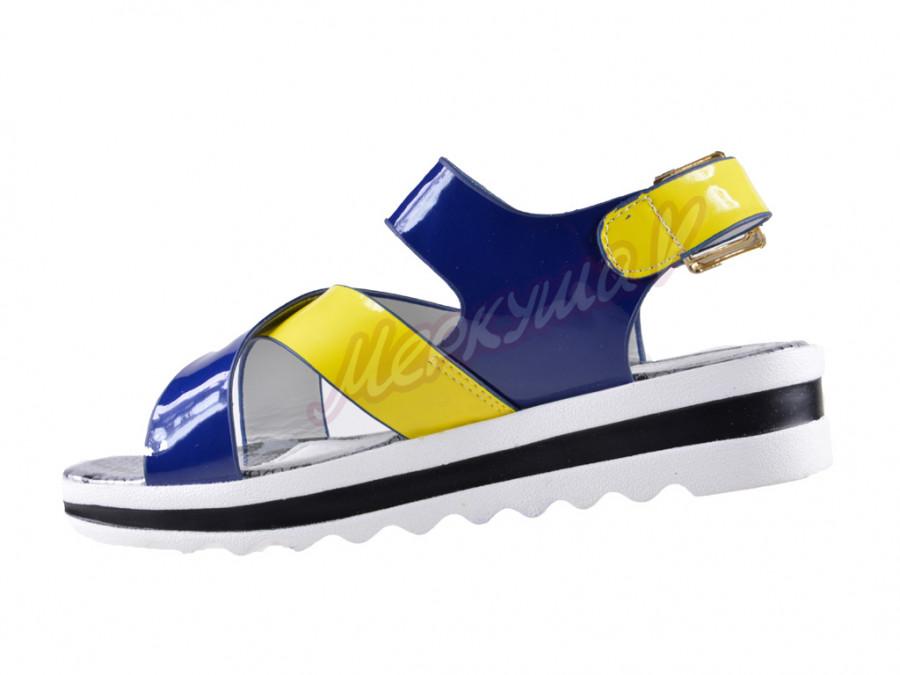 Босоножки ZH17507-7, жёлтый/голубой
