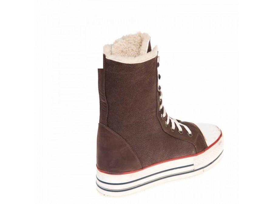 Pegas зима ботинки 4815 шоколадная  дубл.