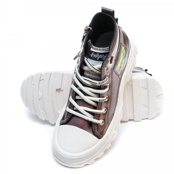 Ботинки д/с Fashion F625-1(31-36)бронза