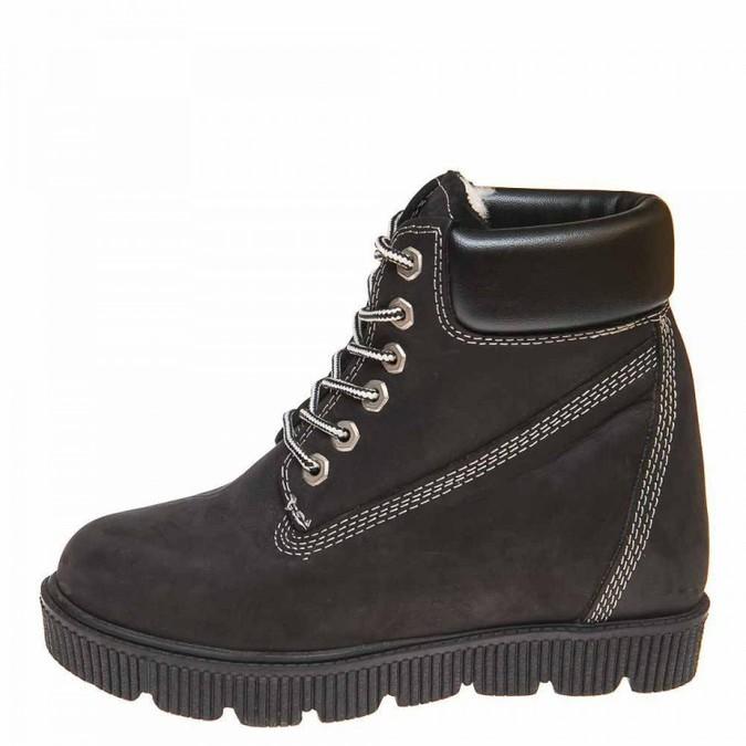 Pegas зима ботинки Felin чёрный нубук