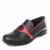 Туфли T101(27-34)D чёрн/красн (26-30)