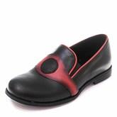 Туфли T101(27-34)D чёрн/красн (31-36)