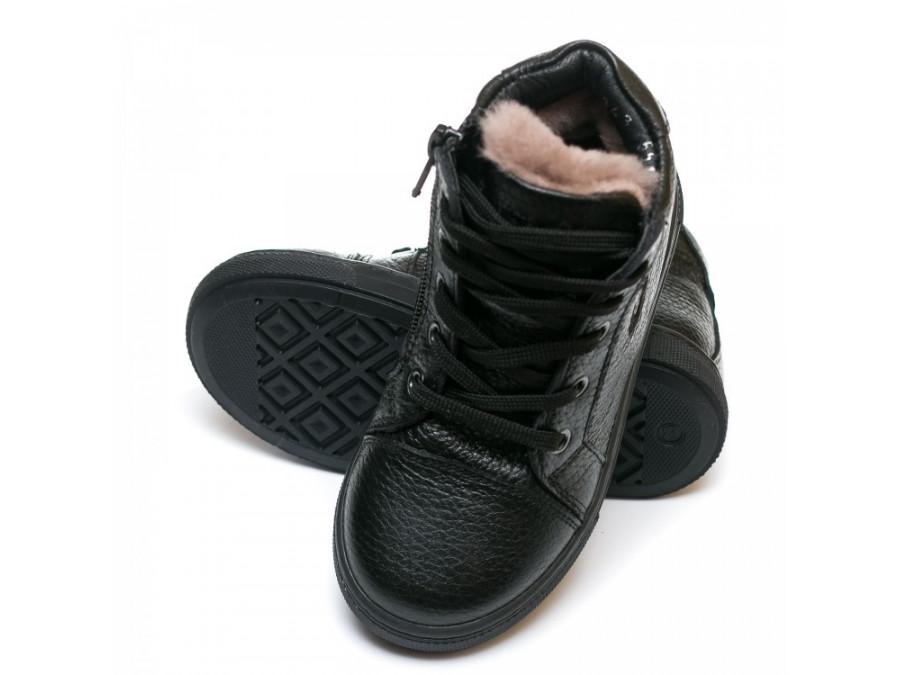 Ботинки зима AlilA Z343SR шнурок черные (22-25)