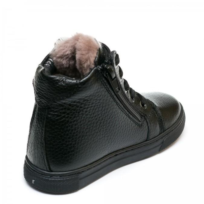 Ботинки зима AlilA Z343SR шнурок черные (26-30)
