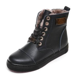 Ботинки зима Z348D син.шнурок(31-36)