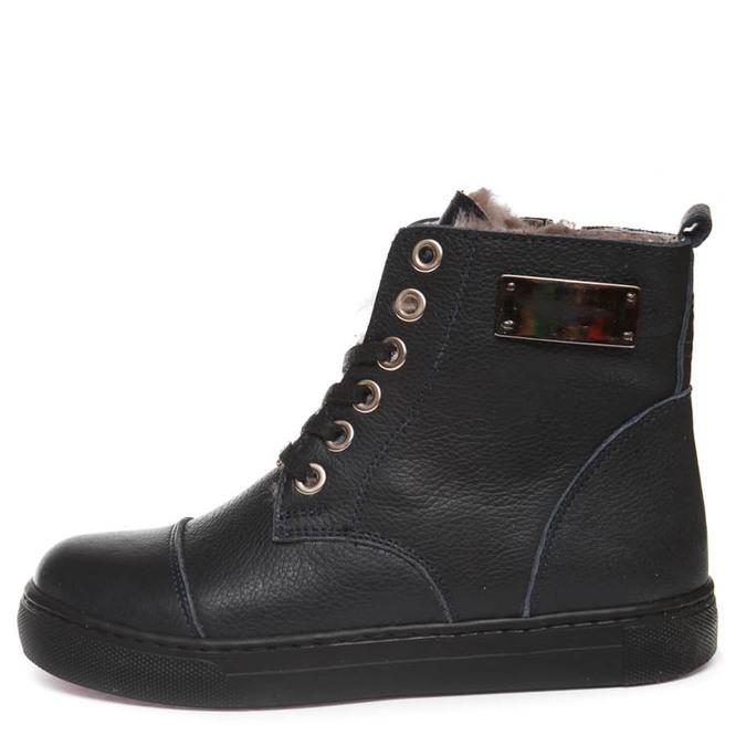 Ботинки зима Z348D син.шнурок(37-40)