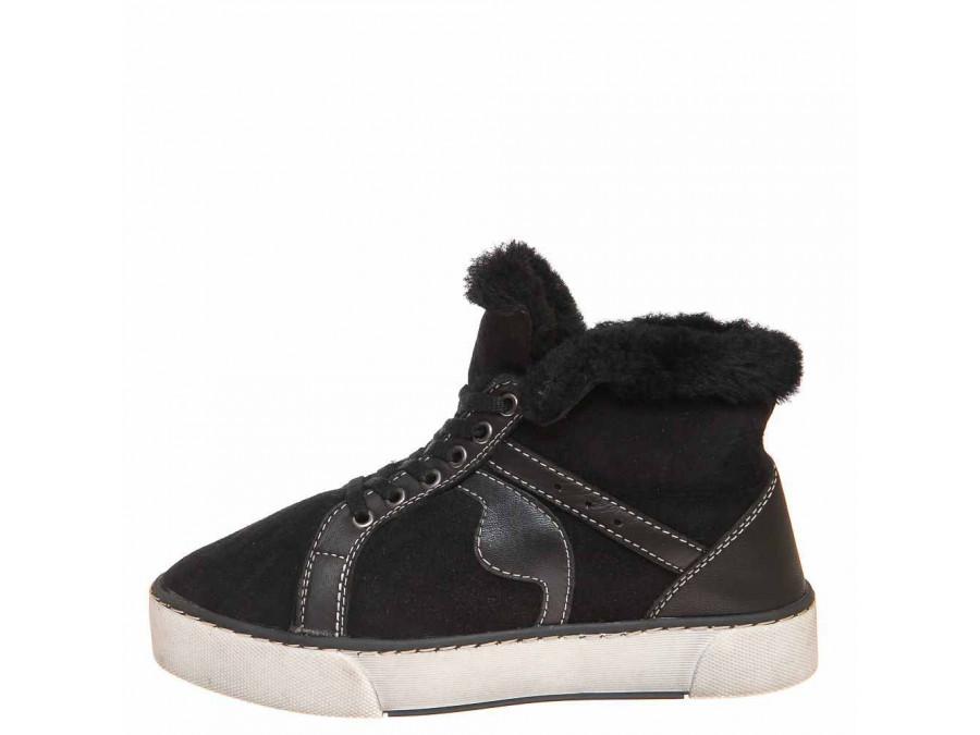 Pegas зима ботинки 4825 чёрная замша
