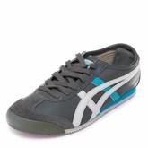 Кроссовки L31608 серые с бело-голубыми полосками (36-40)