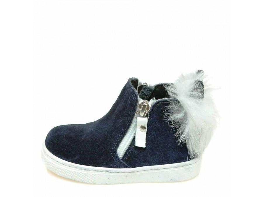 Ботинки зима T544(0354)синяя замша