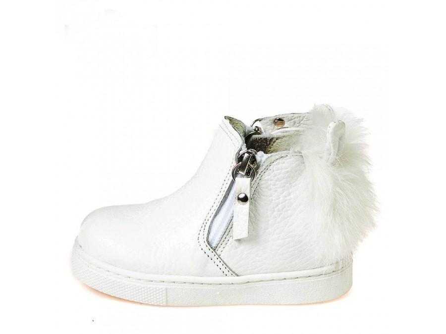 Ботинки зима T544(147)белая кожа