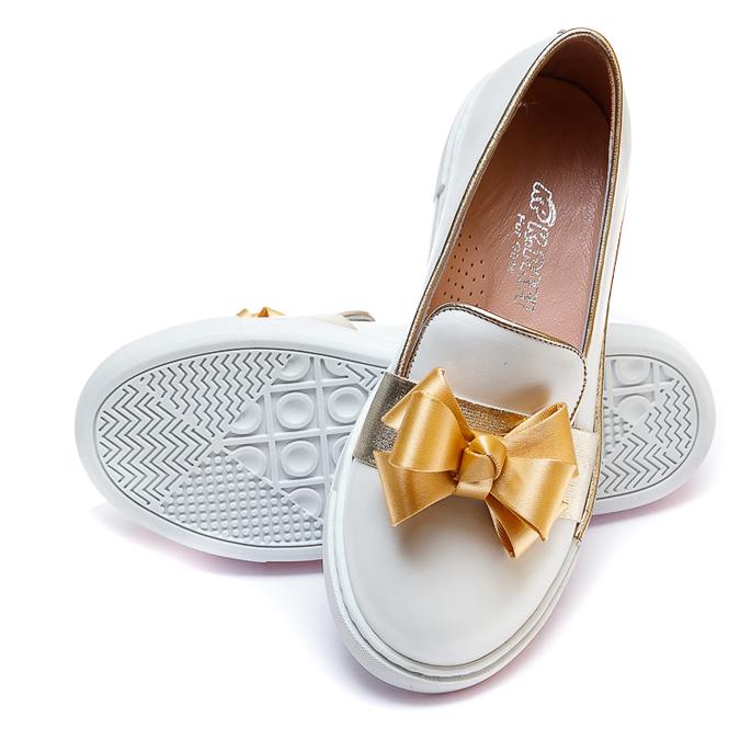 Туфли 51(86-25)(31-36)золото бантик