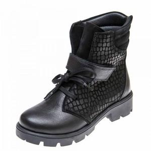 Ботинки д/с 03372(39-101)чёрн.кожа (31-36)