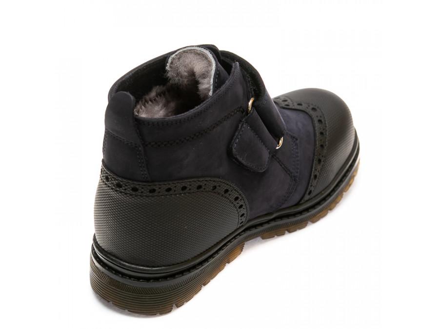 Ботинки зима 285F(300)тем.син(31-36)