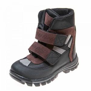Ботинки зима 329(602) чёрные/коричн