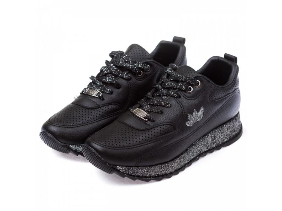 Кроссовки FLET EN104 черные(36-40)