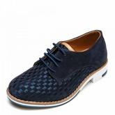 Туфли 3526-1 синяя замша (26-30)