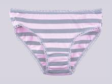 Трусики  BM40 Цветные полосы, бледно-розовый